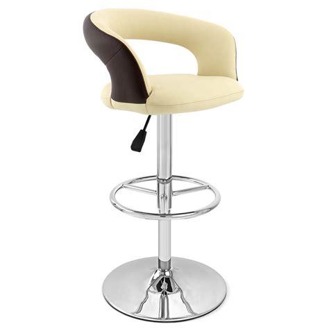 monza bar stool cream seat with brown back monza bar stool zuri furniture