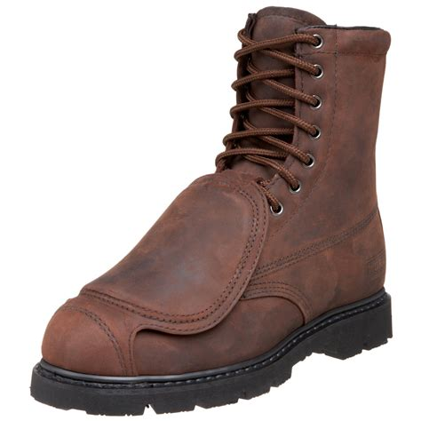 mens redwing boots wing worx by shoes mens 8 met guard boot in brown for