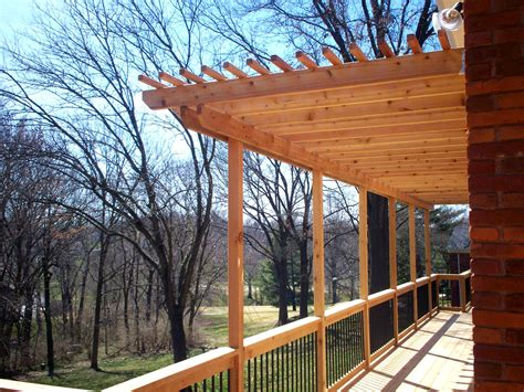 deck arbor cedar decking st louis decks screened porches