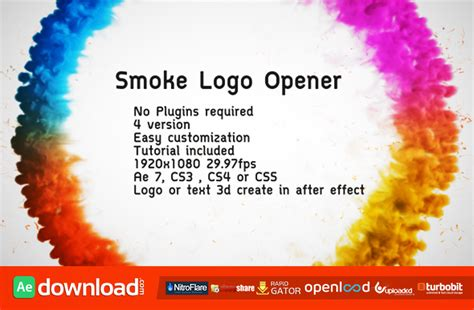 logo opener tutorial after effects smoke logo opener videohive free download free after
