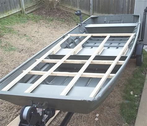how to build aluminum boat floor get how to build a platform in a jon boat junk her