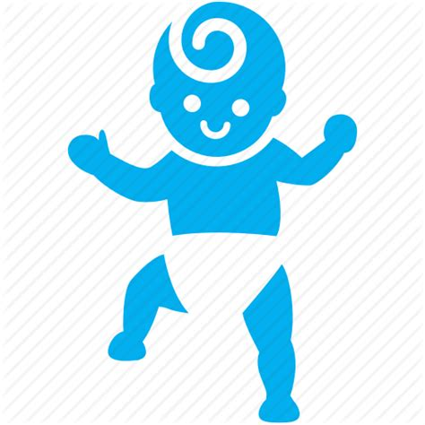 jointed doll icons baby boy kid step toddler walk icon icon
