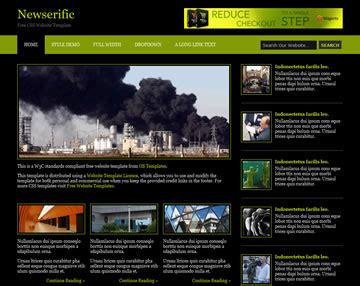 templates for news website free download newserific website template free website templates os