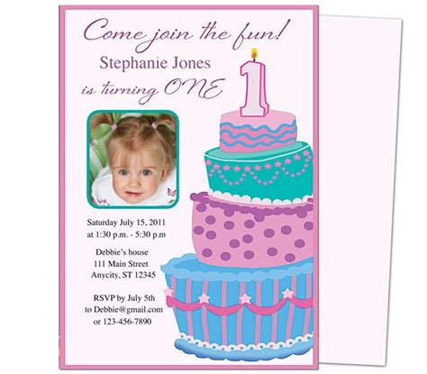 1st birthday invitation templates free 13 best images about printable 1st birthday