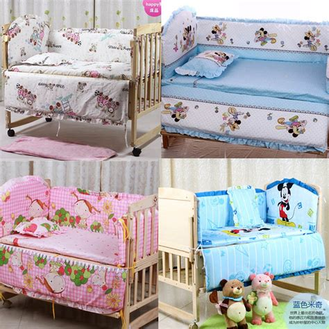 5pcs Baby Crib Bedding Set Kids Bedding Set 100x60cm Crib Bedding Sets With Bumpers