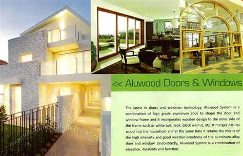 wooden design aluminum doors  windows philippines