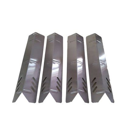 set of four stainless steel heat plates for backyard grill