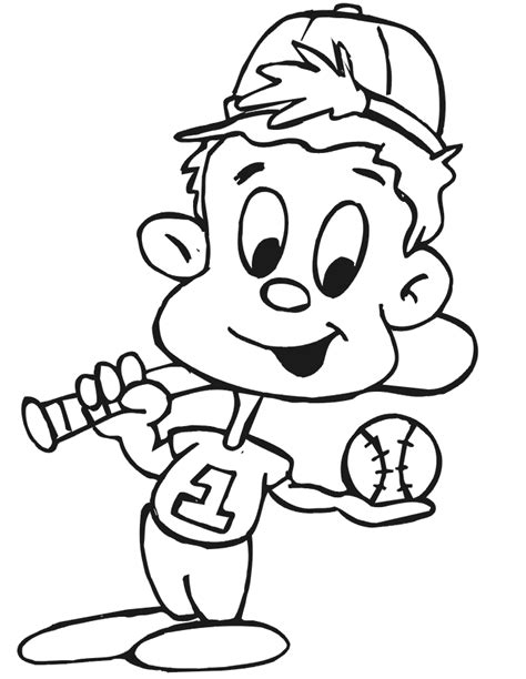 free printable baseball coloring pages for kids best