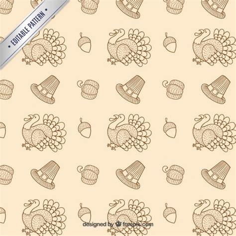 turkish pattern ai thanksgiving turkey pattern vector premium download