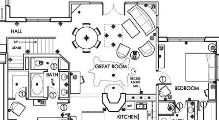 detailed floor plans telluride colorado ski villa architectural drawing