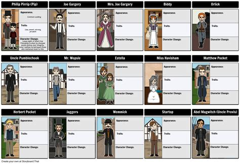 theme of education in great expectations great expectations character map storyboard by rebeccaray