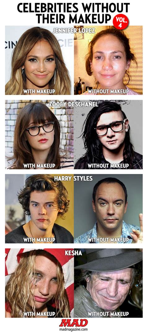 celebrities without their makeup mad celebrities without their makeup vol 4 mad magazine