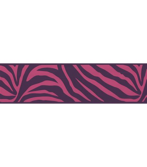 Zebra Wallpaper Border For Bedrooms by Zebra Crossing Pink Zebra Wallpaper Border At Joann