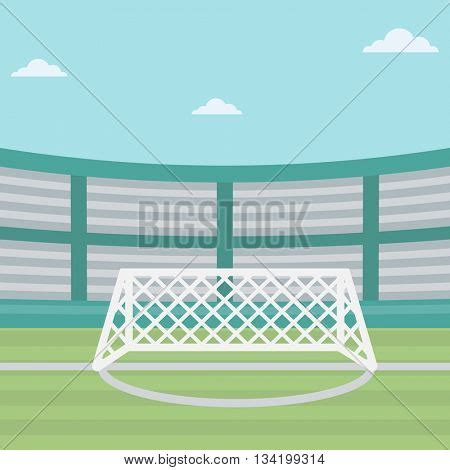 layout of vector arena background of soccer stadium soccer stadium with gate
