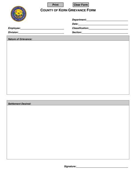 employee grievance form 4 employee grievance forms word pdf