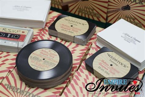 vintage record wedding invitations custom vintage vinyl record wedding invites canada