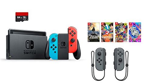 Nintendo Switch Grey Bundle 1 Free Pouch And Screen Protector nintendo switch 7 items bundle nintendo switch 32gb console and blue 64gb micro sd card and