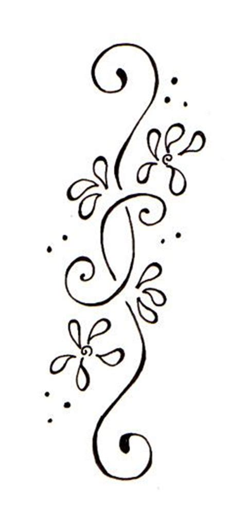 simple tattoo borders flower side tattoos floral border flower and middle