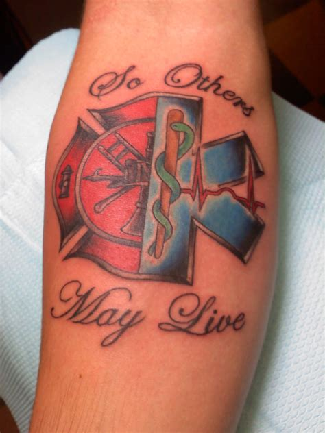 fire ems tattoo ems quotes quotesgram ideas