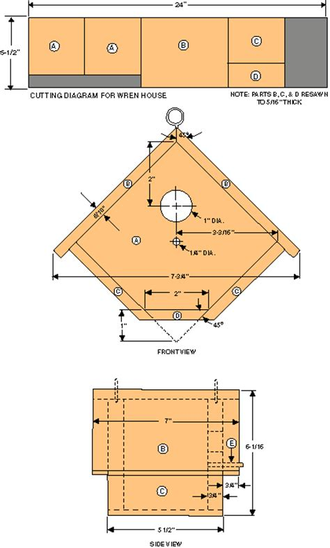Wren Houses Plans How To Build A Birdhouse Modern Farmer Bird House Plans