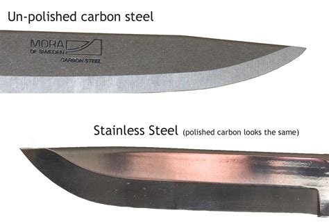 high carbon stainless steel knife carbon stainless steel differences greenman bushcraft
