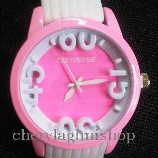 Jam Tangan Converse Denim Pink converse rubber