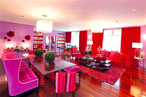 Purple Dining Room colorful eclectic style reigns in kris aquino s condo rl