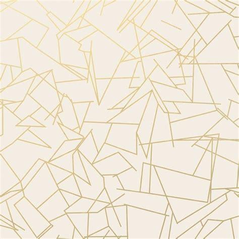 Tapisserie Geometrique by Papier Peint G 233 Om 233 Trique Blanc Angles Gold Erica