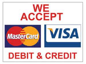 We accept all major credit and debit cards quotes