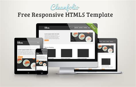 responsive template for cleanfolio free responsive html5 template idevie