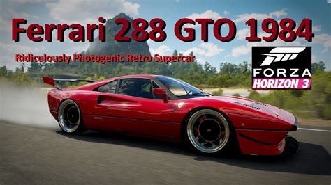 stanced cars forza horizon 3 ferrari 288 gto 1984 stanced with dubs forza horizon 3