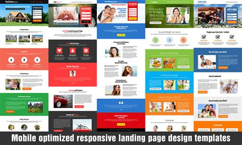 mobile landing page templates responsive landing page improve your conversion rate