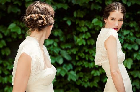 hairstyles down the middle braided wedding hairstyle parted down middle onewed com