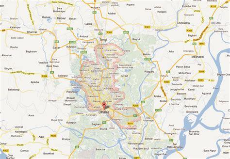 map of dhaka city dhaka map and dhaka satellite image