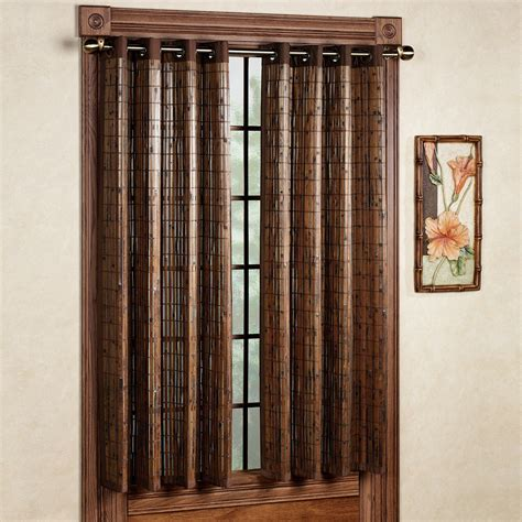 Bamboo Door Curtains Bamboo Grommet Window Panels