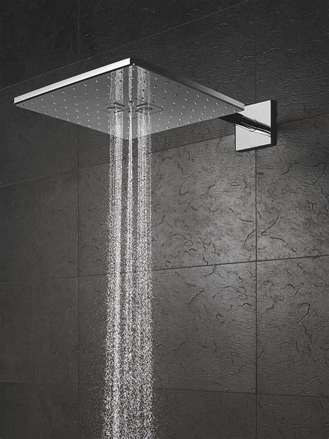 grohe smart control 3way chrome square shower set 26479000