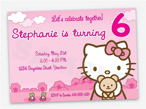 hello birthday invitation card template free free printable hello birthday invitation