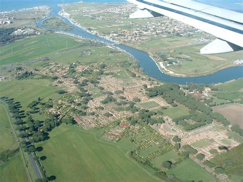 ostia port ostia seen from the sky