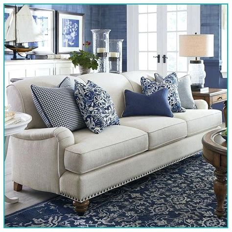 gray sofa  blue pillows google search living room