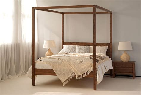 4 post bed orchid four poster bed solid wood natural bed company