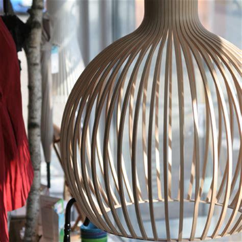 pendelleuchte skandinavisches design secto octo 4240 walnuss natur pendelleuchte aus holz