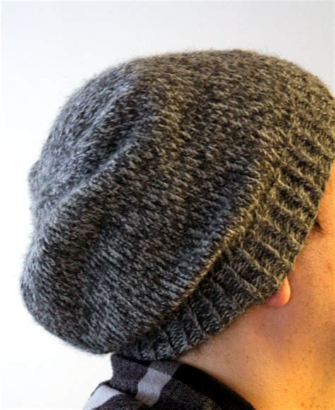 easy knitted beanies free patterns easy slouchy unisex beanie think crafts by createforless