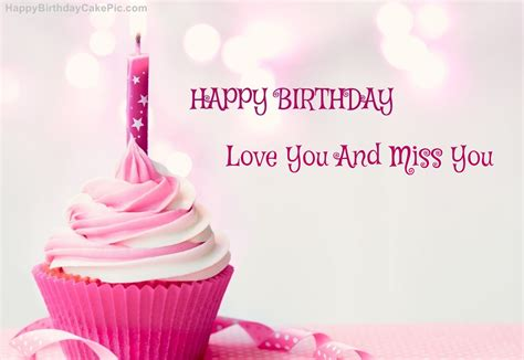 Happy Birthday Miss by Happy Birthday Cupcake Candle Pink Cake For You And