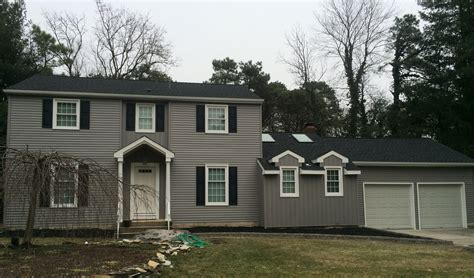 houses with gray siding certainteed mainstreet double 4 granite gray siding south jersey roofing