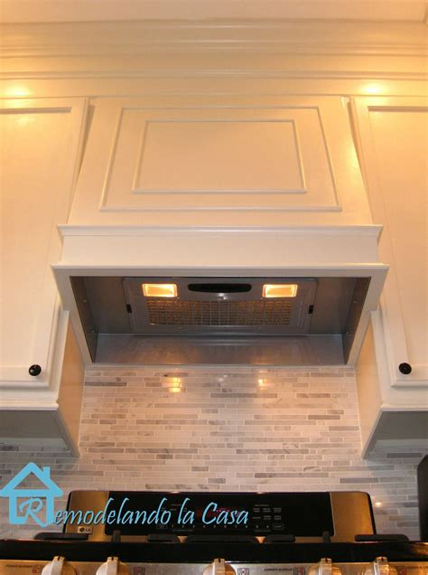 stove with built in exhaust fan remodelando la casa how to build a range hood