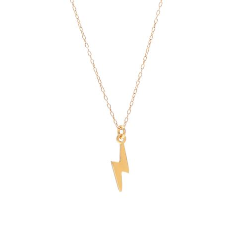 lightning bolt necklace in yellow lyst