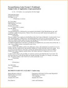 Personal Business Letter Heading 7 Personal Letter Format Writable Calendar
