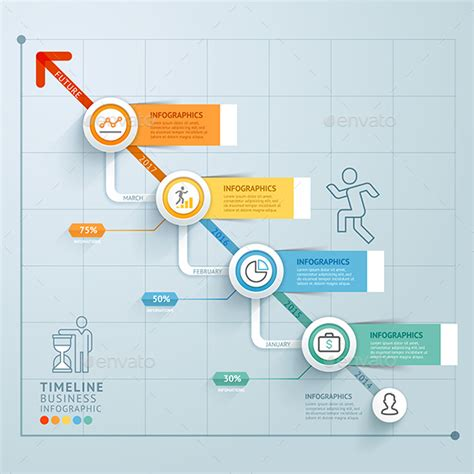 Business Timeline Infographics Template Ai Illustrator Infographics And Timeline Infographic Template Illustrator