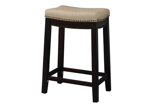 linen nailhead bar stools linen nailhead saddle stool 2 sizes