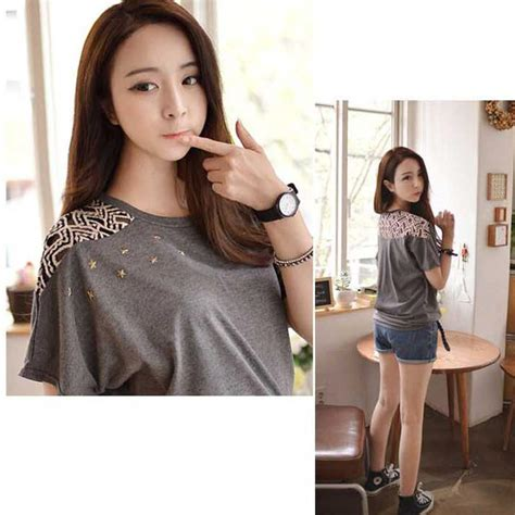 Atasan Blouse Blus Baju Lengan Panjang Katun Impor Chic Top blus atasan wanita import lengan pendek katun brokat b2811